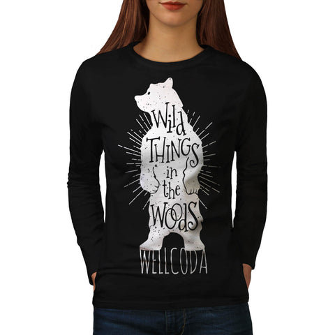 Wild Thing Poster Womens Long Sleeve T-Shirt