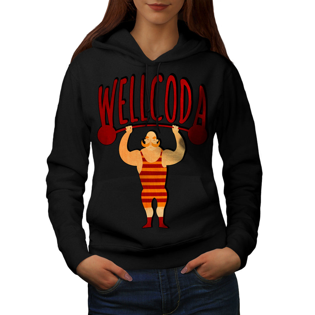 Strong Man Work Out Womens Hoodie