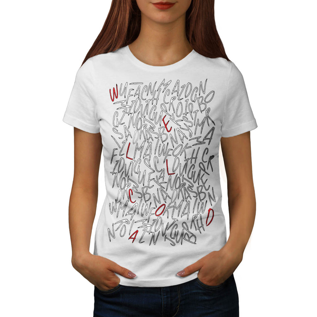 ABC Alphabet Mass Womens T-Shirt