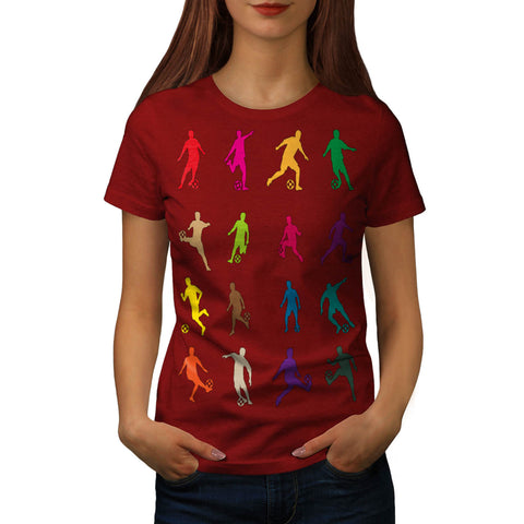 Footbal Play Figure Womens T-Shirt