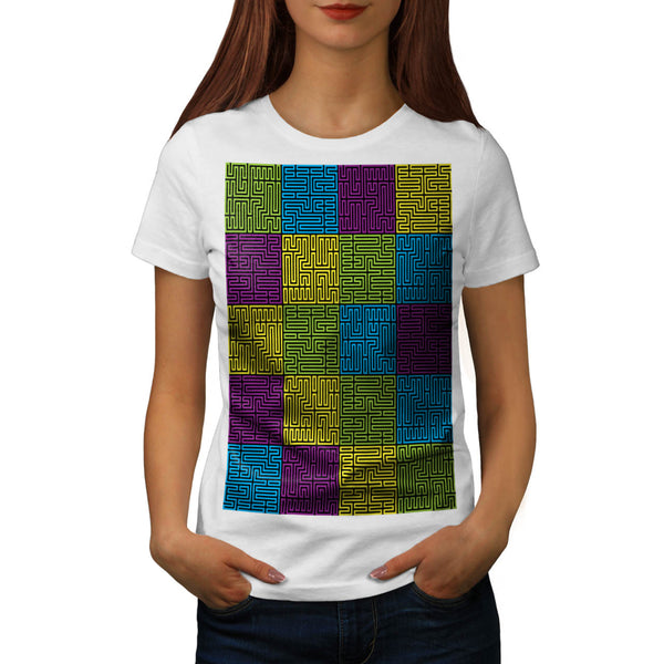 Multiple Labyrinth Womens T-Shirt