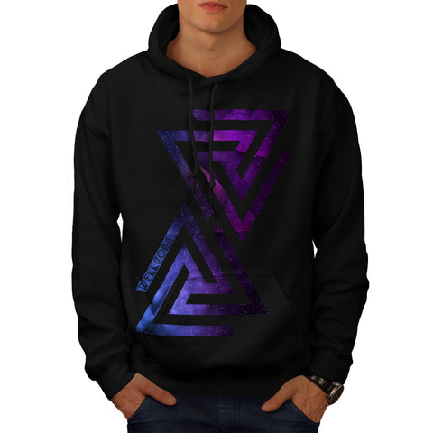 Triangle Universe Mens Hoodie