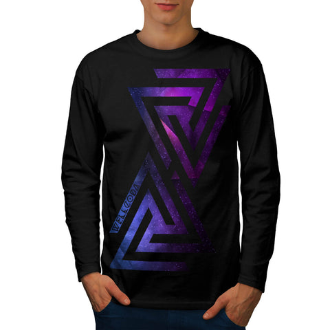 Triangle Universe Mens Long Sleeve T-Shirt