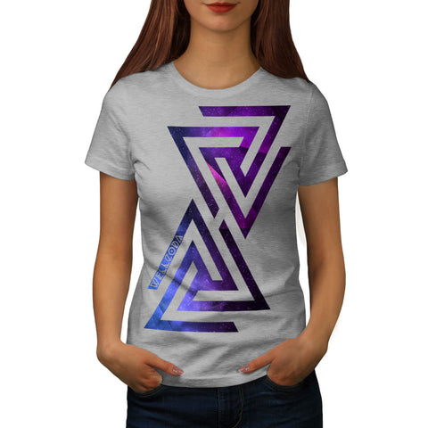 Triangle Universe Womens T-Shirt