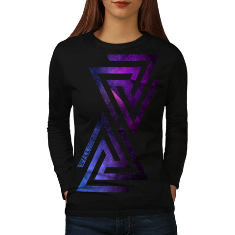 Triangle Universe Womens Long Sleeve T-Shirt