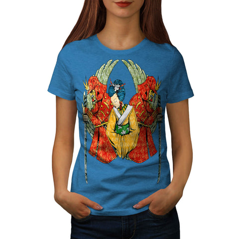 Japanese Lady Charm Womens T-Shirt