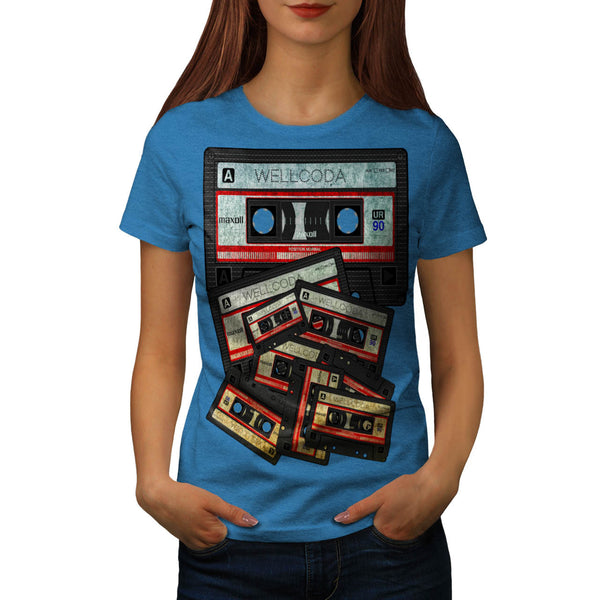 Music Cassette Tape Womens T-Shirt