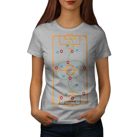 Footbal Play Field Womens T-Shirt