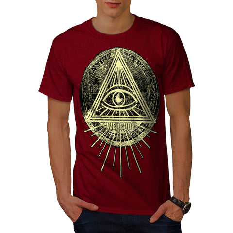 Illuminati Triangle Mens T-Shirt