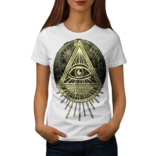 Illuminati Triangle Womens T-Shirt