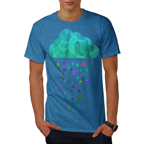 Shower Cloud Rain Mens T-Shirt