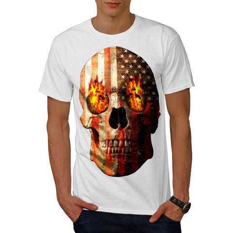 American Skull Burn Mens T-Shirt