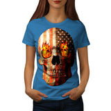 American Skull Burn Womens T-Shirt