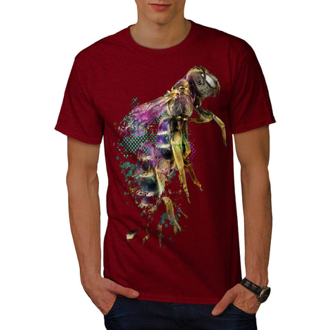 Honeybee Beast Print Mens T-Shirt