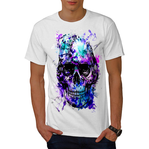 Skull Head Concert Mens T-Shirt