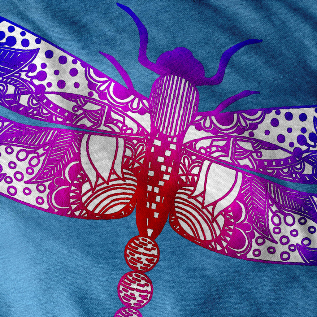 Colorful Dragon Fly Womens T-Shirt