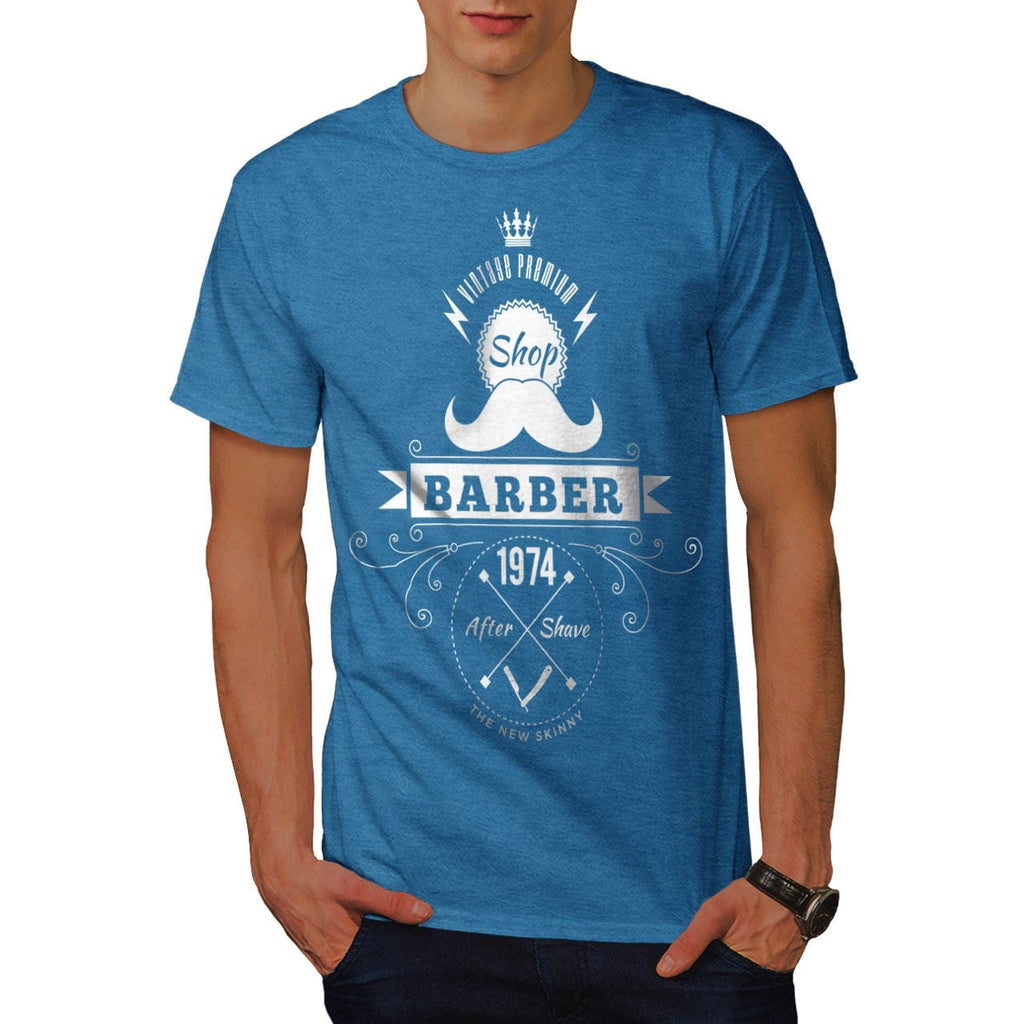 Barber Shop Moustache Mens T-Shirt