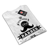 Barber Shop Moustache Womens T-Shirt