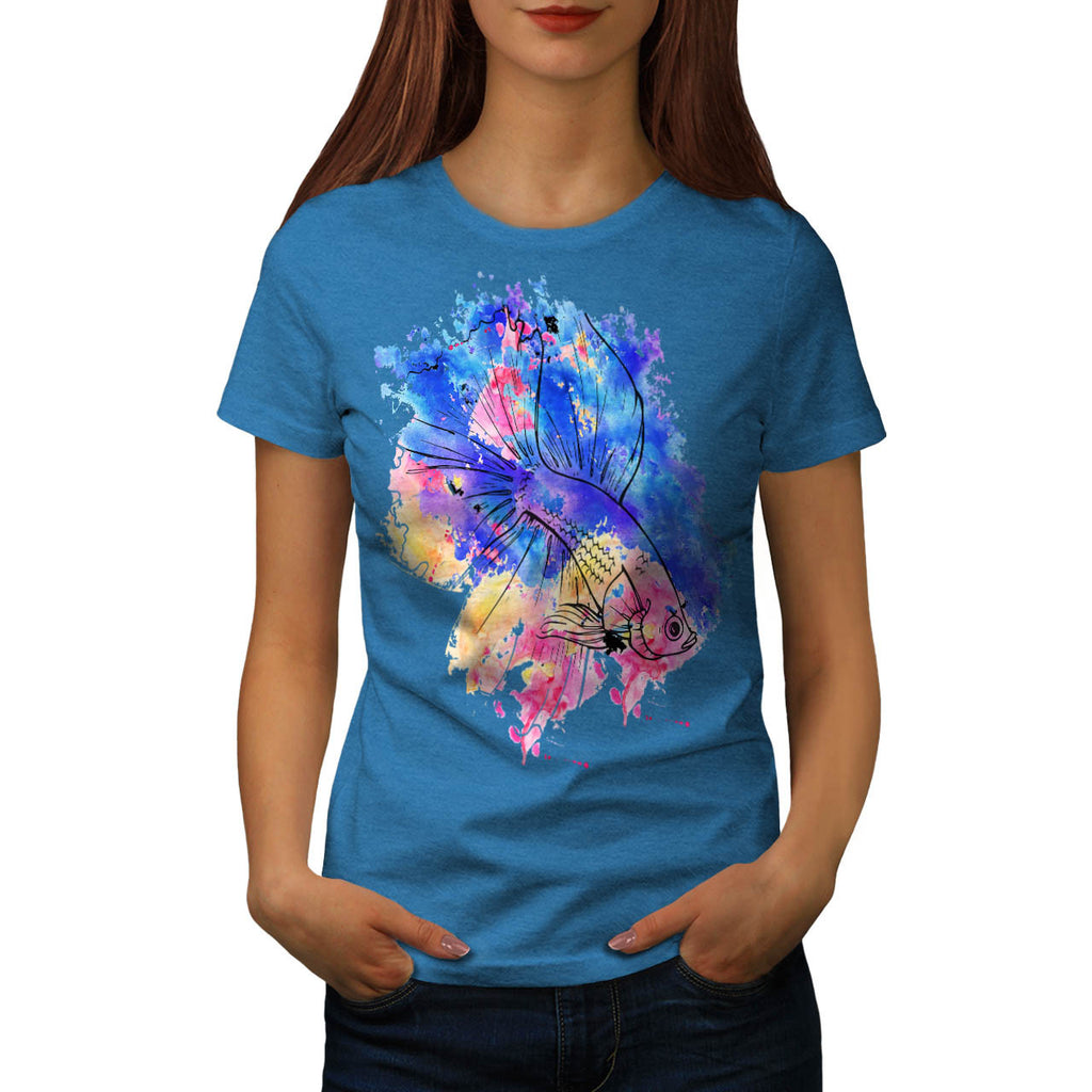 Gold Fish Rainbow Womens T-Shirt