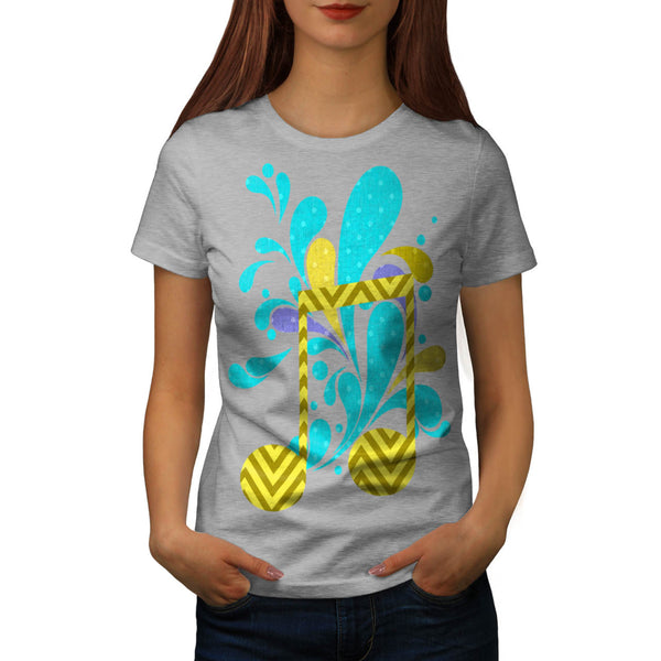 Water Music Splash Womens T-Shirt