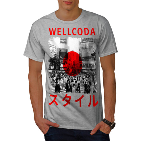 Japan Style Flag Mens T-Shirt