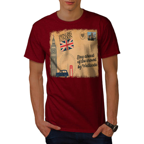 England Poster UK Mens T-Shirt