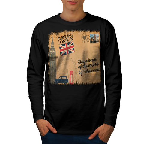 England Poster UK Mens Long Sleeve T-Shirt