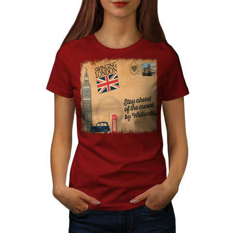 England Poster UK Womens T-Shirt