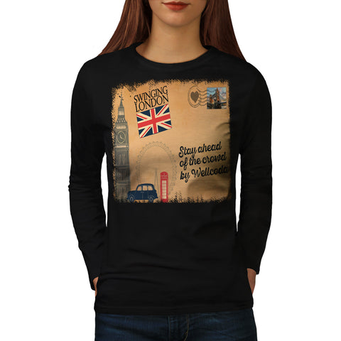 England Poster UK Womens Long Sleeve T-Shirt