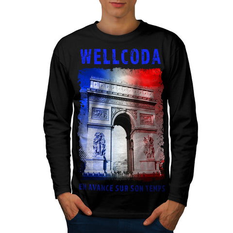 France Icon Buiding Mens Long Sleeve T-Shirt