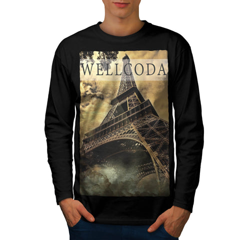 French Tower Icon Mens Long Sleeve T-Shirt