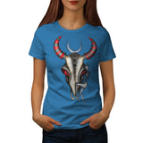 Buffalo Skull Head Womens T-Shirt