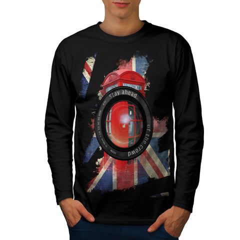 UK Telephone Booth Mens Long Sleeve T-Shirt