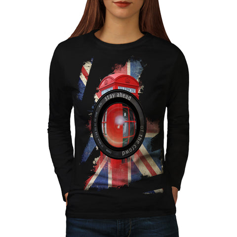 UK Telephone Booth Womens Long Sleeve T-Shirt