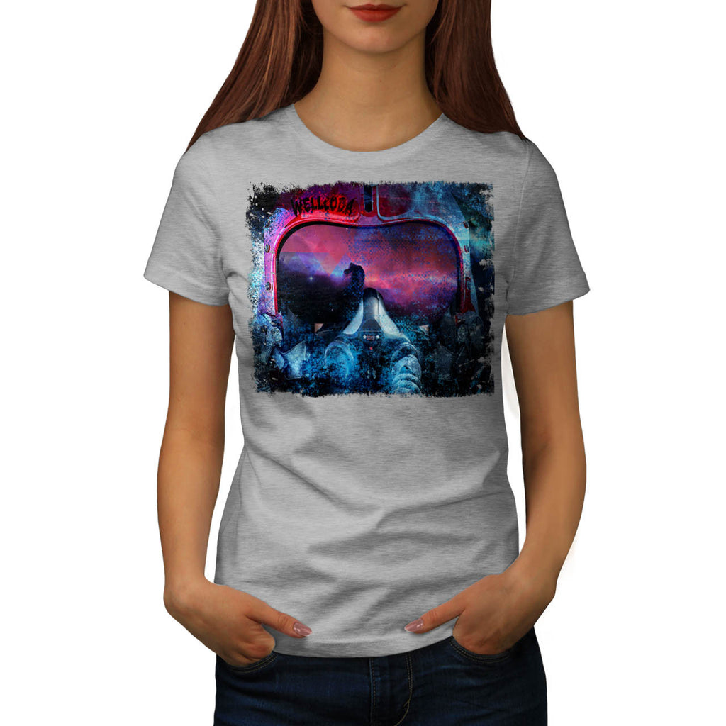 Artsy Pilot Head Womens T-Shirt