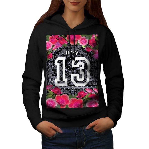 Unlucky Number 13 USA Womens Hoodie