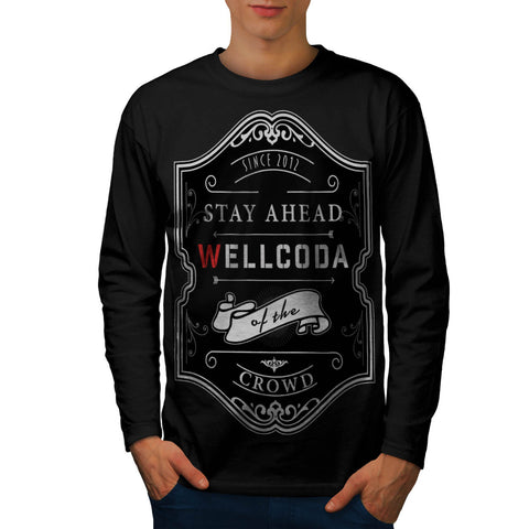 Whiskey Style Print Mens Long Sleeve T-Shirt