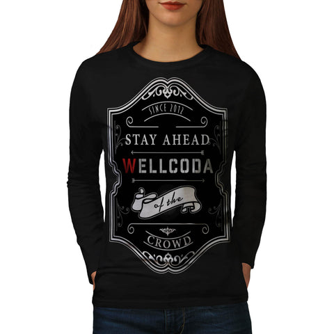 Whiskey Style Print Womens Long Sleeve T-Shirt