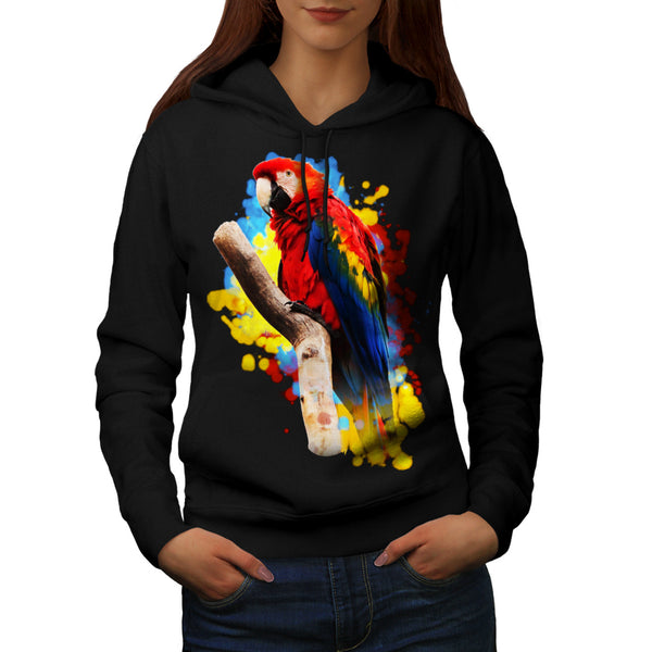 Parrot Bright Splash Womens Hoodie