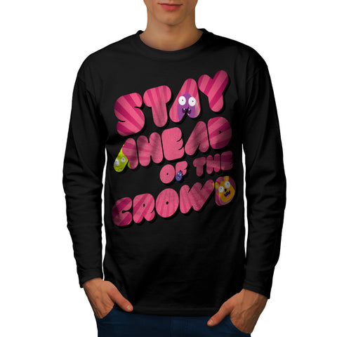 Snappy Monster Head Mens Long Sleeve T-Shirt