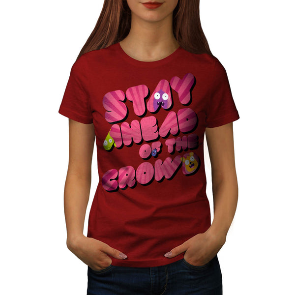 Snappy Monster Head Womens T-Shirt