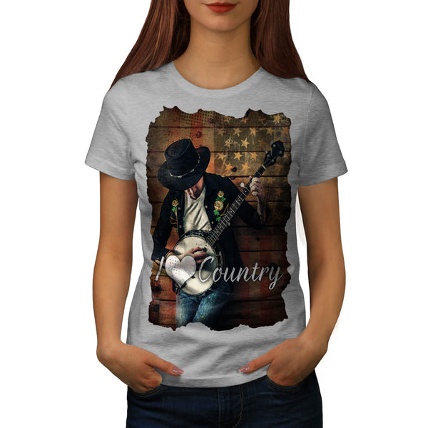 Country Music Player Womens T-Shirt