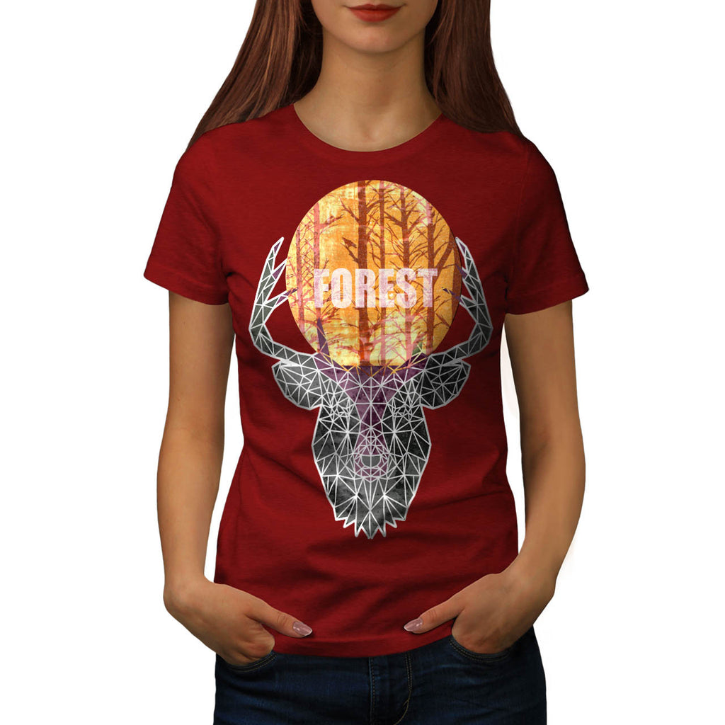Wild Forest Animal Womens T-Shirt