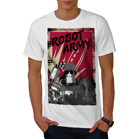 Robot Army Invasion Mens T-Shirt