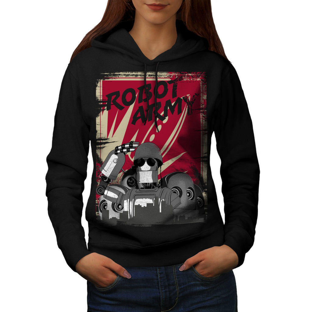 Robot Army Invasion Womens Hoodie