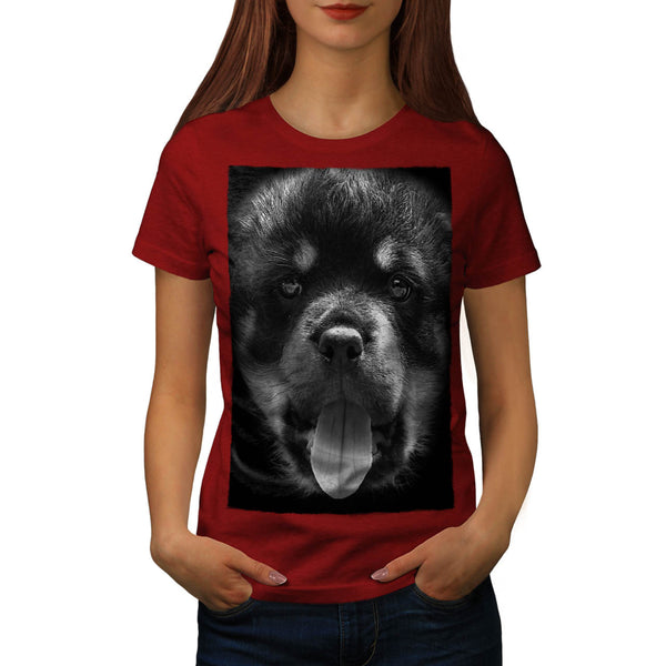 Cute Doggy Face Fun Womens T-Shirt