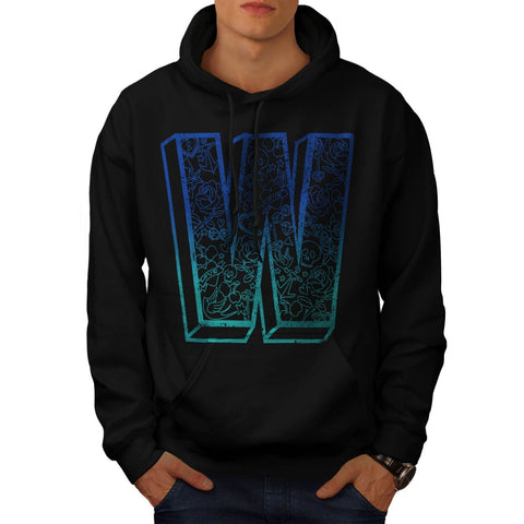 Apparel Big Letter W Mens Hoodie