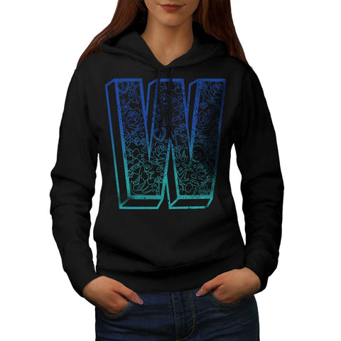 Apparel Big Letter W Womens Hoodie
