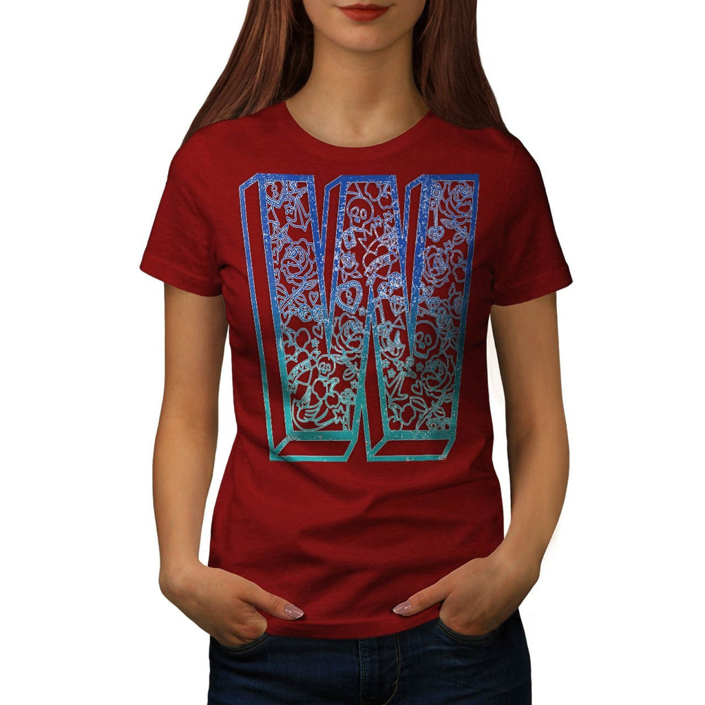 Apparel Big Letter W Womens T-Shirt