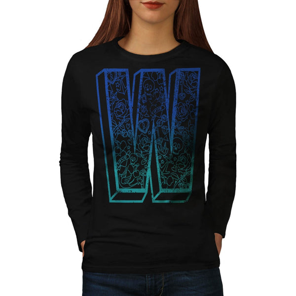 Apparel Big Letter W Womens Long Sleeve T-Shirt